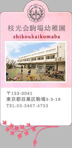 枝光会駒場幼稚園 〒153-0041東京都目黒区駒場3-3-18 TEL:03-3467-4753